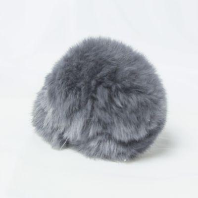 Помпон - Помпон D6-9 мех кролик Цвет.02 Св.серый