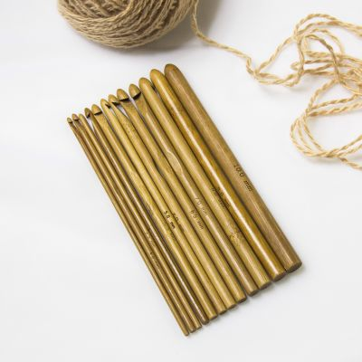 Инструмент для вязания - Набор деревянных крючков для вязания Bamboo набор д творчества шкатулка д росписи многоугольная 6 2 10 9 10 2 6 0 10 9 9 4 дерево am0109