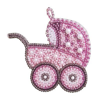 РВ2115 Розовая колясочка