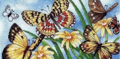 Набор для вышивания Classic Design 4492 Летние бабочки
