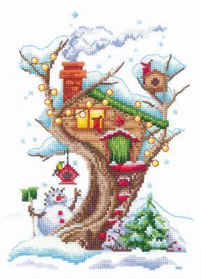 Набор для вышивания Сделай своими руками Д-23 Дома на деревьях. Снежный