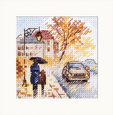 0-218 Осень в городе. Мокрый бульвар