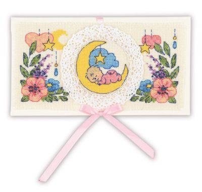 Фото - Набор для вышивания Риолис (Сотвори Сама) 1893АС Конверт С рождением малыша набор для вышивания риолис сотвори сама 1600 подушка панно венское кружево