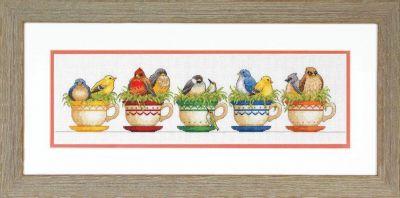 35394 DMS Птицы в чайных чашках