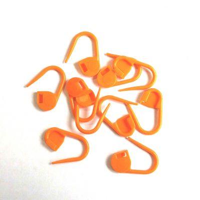 Аксессуар для вязания - Маркеры для вязания. Оранжевый. 10 шт