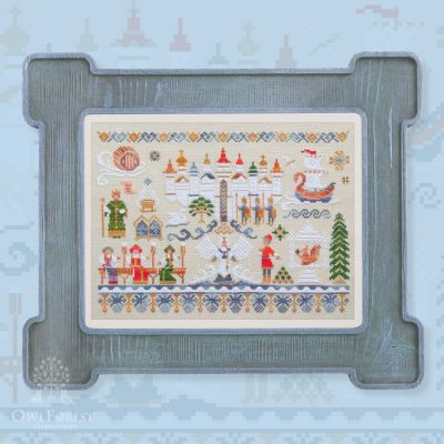 Набор для вышивания OwlForest 045-СЦС-Н-ЗBf Сказка о царе Салтане