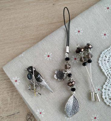 Наборы аксессуаров для вышивания - Набор аксессуаров Черный кардинал