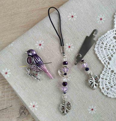 Наборы аксессуаров для вышивания - Набор аксессуаров Фиолетовый кардинал