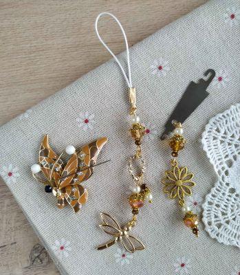 Наборы аксессуаров для вышивания - Набор аксессуаров Бежевая бабочка