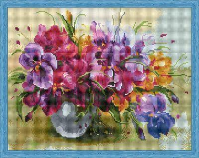 Набор для вышивания Цветной Алмазная вышивка qa201926 Летние цветы