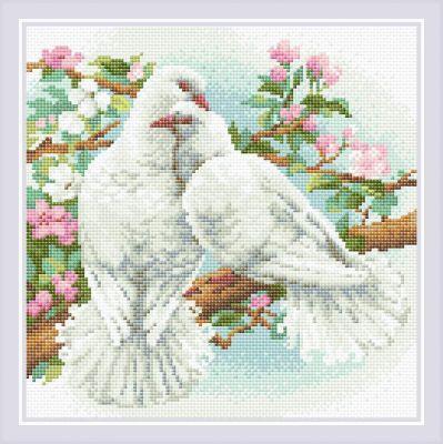 Набор для вышивания Риолис (Сотвори Сама) Алмазная вышивка АМ0058 Белые голуби