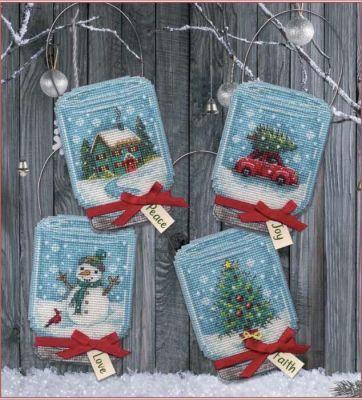8997 DMS Рождественские украшения Баночки