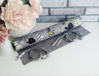 Ролл для вышивки Arapova A. Влюбленные коты, серый/2 - ролл для вышивки