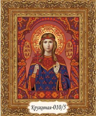 Кружевная-010/5 Святая мученица Надежда (красный/красный)