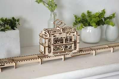 70008 3D-пазл механический - Трамвай с рельсами