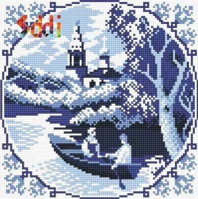 Купить со скидкой 71080,04 Гжельский пейзаж - мозаика Anya