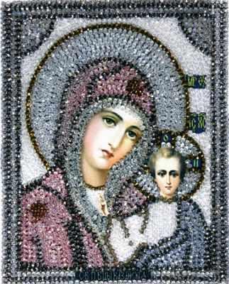 Набор для вышивания иконы Образа в каменьях 7701 Казанская Божия Матерь