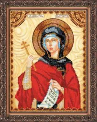 АА-066 Набор для вышивания бисером икона  Св. Маргарита  - Абрис-Арт
