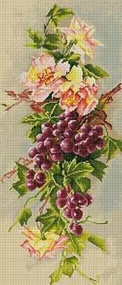 ALV-2 Кристальная мозаика (алмазная вышивка) 03  Гроздь винограда  - Мозаика «ФРЕЯ»