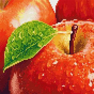 Алмазная мозаика ФРЕЯ ALV-4 Кристальная мозаика (алмазная вышивка) 04 Спелое яблоко стилус