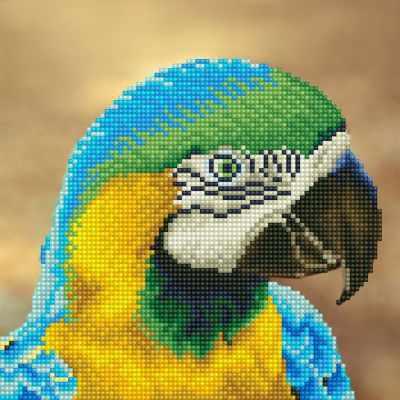 ALV-5 Кристальная мозаика (алмазная вышивка) 02  Попугай  - Мозаика «ФРЕЯ»