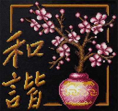 ALVR-10 Кристальная мозаика (алмазная вышивка) 003 Иероглиф Гармония