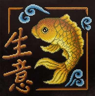 ALVR-10 Кристальная мозаика (алмазная вышивка) 028  Иероглиф Бизнес  - Мозаика «ФРЕЯ»