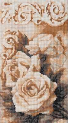 Алмазная мозаика ФРЕЯ ALVR-14 Кристальная мозаика (алмазная вышивка) 016 Чайные розы