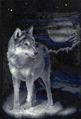 ALVR-26 Кристальная мозаика (алмазная вышивка) 001  Волк  - Мозаика «ФРЕЯ»