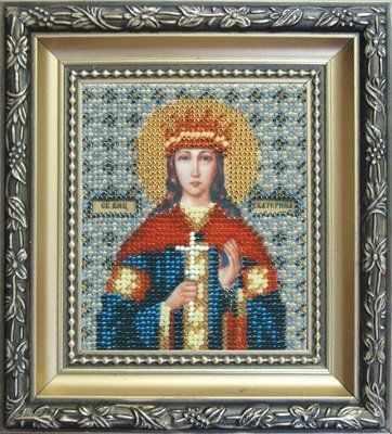 Б-1049  Икона святой мученицы Екатерины   чм - Наборы для вышивания икон «Чарiвна Мить»