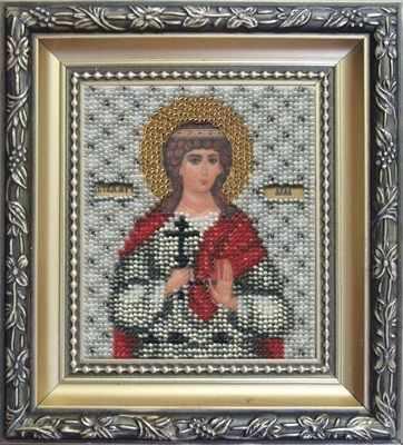 Б-1055  Икона Святой мученицы Аллы   чм - Наборы для вышивания икон «Чарiвна Мить»