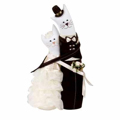 Набор для изготовления игрушки Miadolla C-0152 Коты-обнимашки свадебные (Miadolla)
