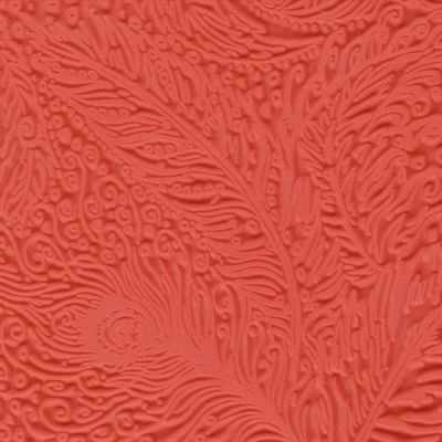 CE95006 Текстура для пластики резиновая 9х9 см Павлин - Инструменты для лепки из полимерной глины