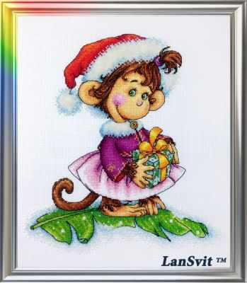 Набор для вышивания ЛанСвiт Д-053 Кокетливая обезьянка