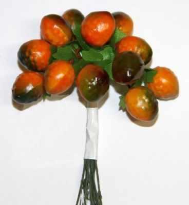 DKB018 Декоративный букетик Рукоделие Оранжевые ягоды