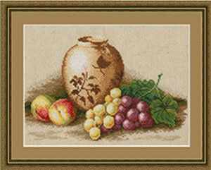 ФИ-004 Персики и виноград.Фруктовое изобилие