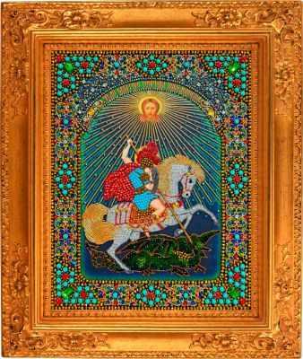 Набор для вышивания Хрустальные грани И-7 Чудо Святого Георгия Победоносца о змия - набор