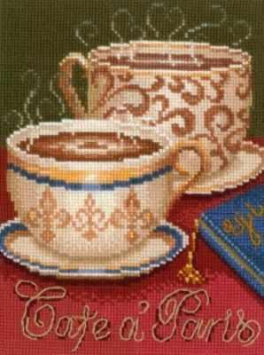 Набор для вышивания Сделай своими руками К-21 Кофе в Париже