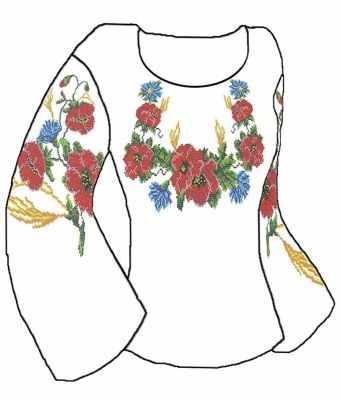 КБСН/хб/-01 Набор для вышивания сорочки (Каролинка) - Вышиванки «Каролинка»