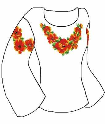 Заготовка для вышиванки Каролинка КБСН/хб/-06 Набор для вышивания сорочки (Каролинка)