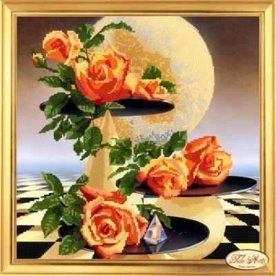 Купить со скидкой НГ-002 - Лунные розы - набор (Tela Artis)