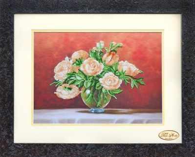 Купить со скидкой НГ-026 - Чайные розы - набор (Tela Artis)
