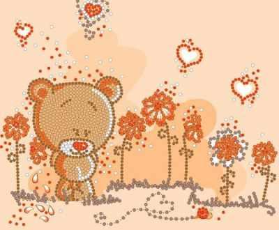 НИК 8114 Мишка-малышка - рисунок на ткани