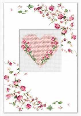 Фото - Набор для вышивания Luca-S (S)P-78 Набор для изготовления открытки Сердце набор для вышивания luca s s p 84 набор для изготовления открытки розовая магнолия