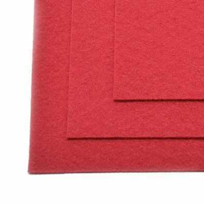 Ткань IDEAL TBY.FLT-H1.607 Фетр листовой жесткий, т.красный