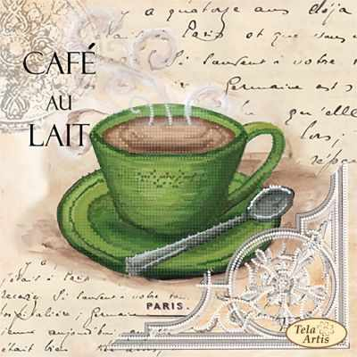 ТМ-105  Кофе в Париже-5  схема (Tela Artis) - Схемы для вышивания «Tela Artis»