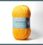 Пряжа Пехорка Весенняя Цвет.485 Жёлто-оранжевый