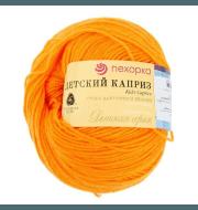 Пряжа Пехорка Детский каприз Цвет.485 Жёлто-оранжевый