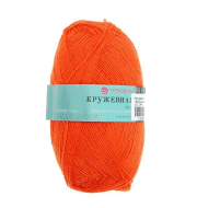Пряжа Пехорка Кружевная Цвет.189 Яр. Оранжевый