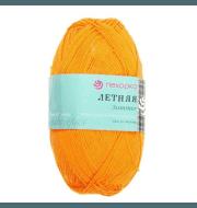 Пряжа Пехорка Летняя Цвет.485 Желто - оранжевый